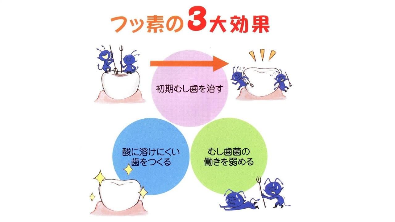 フッ素による虫歯予防効果